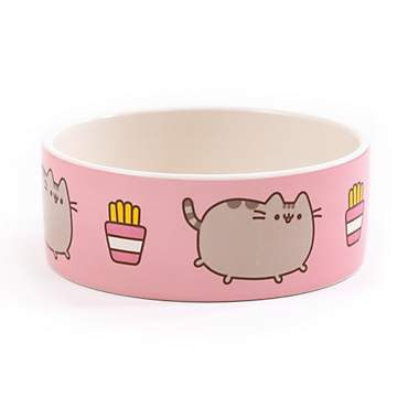Pusheen French Fries Ceramic Bowl for Cat