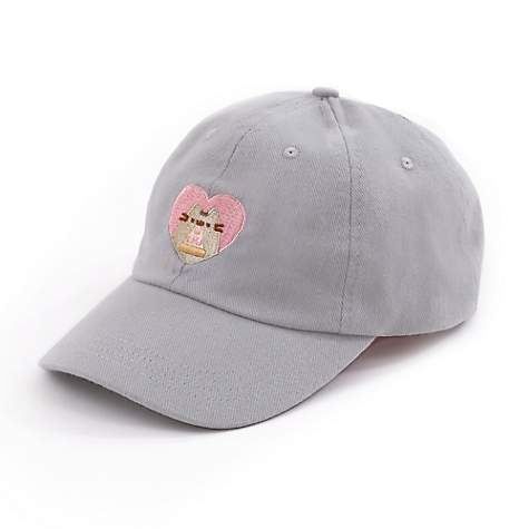 6989e9cda48 Pusheen Pizza Heart Embroidered Dad Cap
