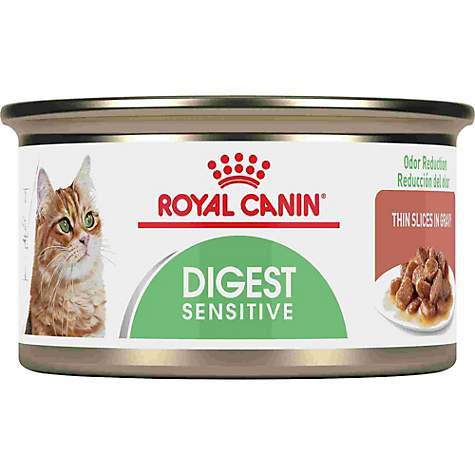 Royal Canin Feline Care Nutrition Digest Sensitive Thin Slices In Gravy Canned Wet Cat Food