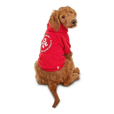 855deb49e412 Reddy Love Is A Four-Legged Word Dog Hoodie | Petco