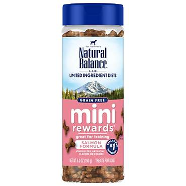 Natural Balance Limited Ingredient Diets Mini Rewards Soft & Chewy Salmon Formula Dog Treats