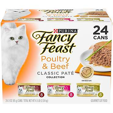 Purina Fancy Feast Classic Pate Poultry & Beef Collection Wet Cat Food Variety Pack
