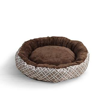 Beatrice Home & Pet Lattice Round Chocolate Cat Beds