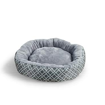 Beatrice Home & Pet Lattice Round Gray Cat Beds