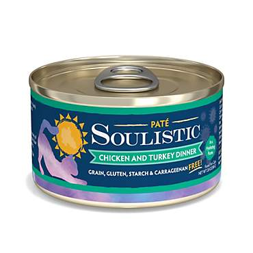Soulistic Pate Chicken & Turkey Dinner in a Hydrating Puree Wet Cat Food