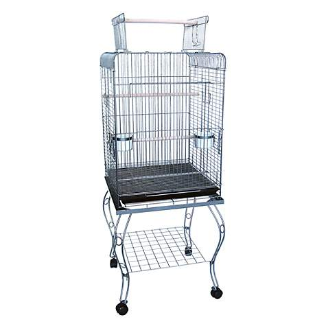 4c976ad2602b YML Play Top Silver Parrot Bird Cage With Stand, 20