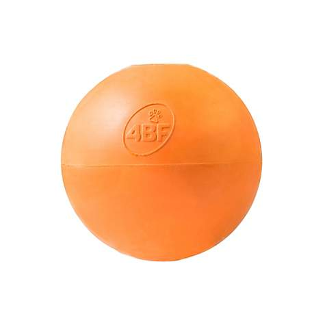 4BF Crazy Bounce Ball Orange Dog Toy, Small