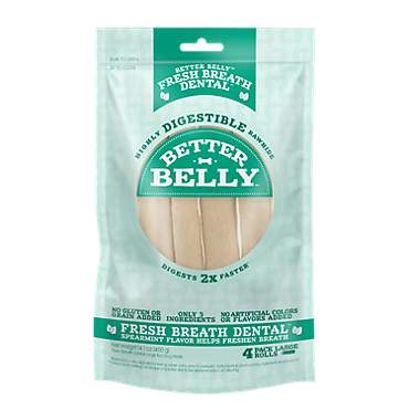 Better Belly Fresh Breath Large Roll Chews for Dogs