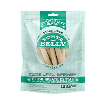 Better Belly Fresh Breath Small Roll Chews for Dogs