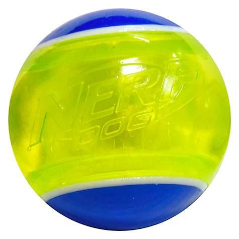 Nerf Led Blaze Tennis Ball Blue Green Dog Toy Petco