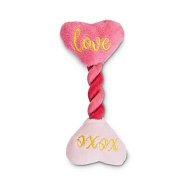 Love My Pup Conversation Heart Rope Dog Toy