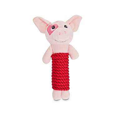Love My Pup Plush Pig Rope Dog Toy