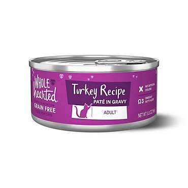 WholeHearted Grain Free Turkey Recipe Pate Adult Wet Cat Food
