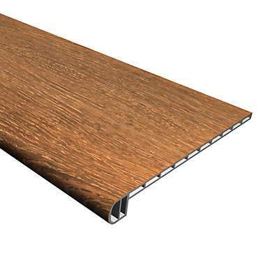 Cali Vinyl Pro Stair Tread, Saddlewood