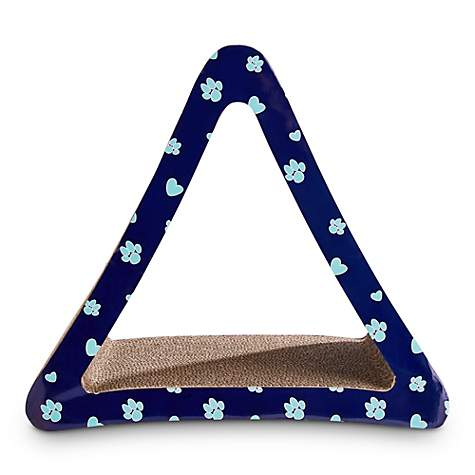You & Me Triangle Cardboard Scratcher in Assorted Colors