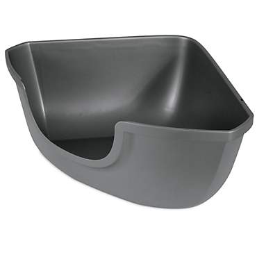 Petmate Corner Open Litter Pan for Cats