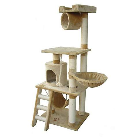 Kitty Mansions Boston Beige Cat Tree