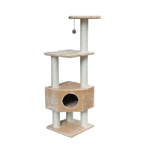 Kitty Mansions Houston Beige Cat Tree