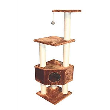 Kitty Mansions Houston Brown Cat Tree