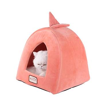 Armarkat Condo Cat Bed in Orange and Ivory
