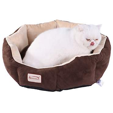 Armarkat Cozy Cat Bed in Mocha and Beige