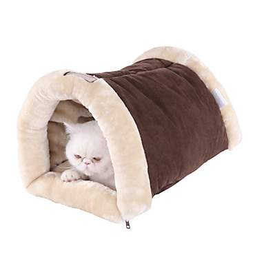 Armarkat Hideaway Multi-use Cat Bed in Brown and Beige