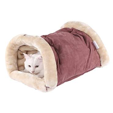 Armarkat Hideaway Cat Bed in Red and Beige
