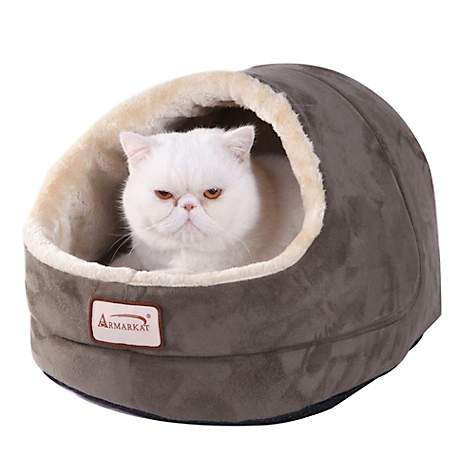 Armarkat Cave Cat Bed in Laurel Green