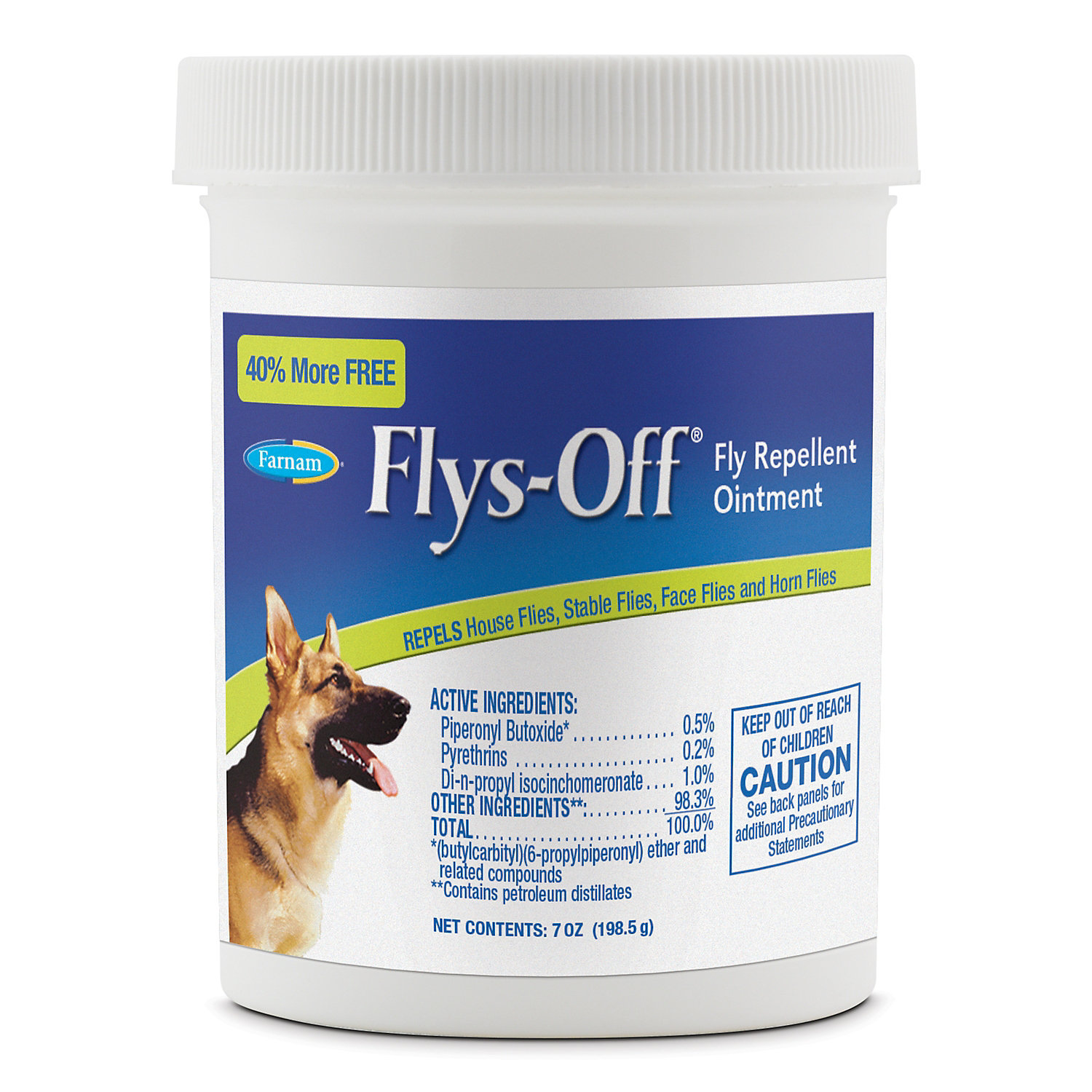 Image of Farnam Flys-Off Fly Repellent Ointment for Wounds & Sores for Dogs, 7 fl.oz., 7 FZ