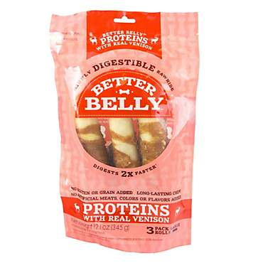 Better Belly Proteins with Real Venison Dog Chew