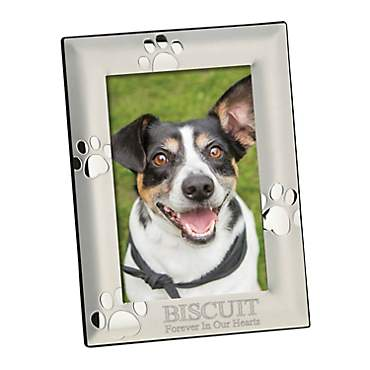 Custom Personalization Solutions Personalized Vertical Silver Dog Memorial Frame