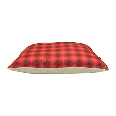 Dallas Manufacturing Plaid Brown Piping Dog Bed