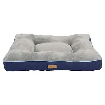 Dallas Manufacturing Denim Gusset Pillow Blue Piping Dog Bed