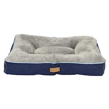 Dallas Manufacturing Denim Gusset Blue Piping Dog Bed