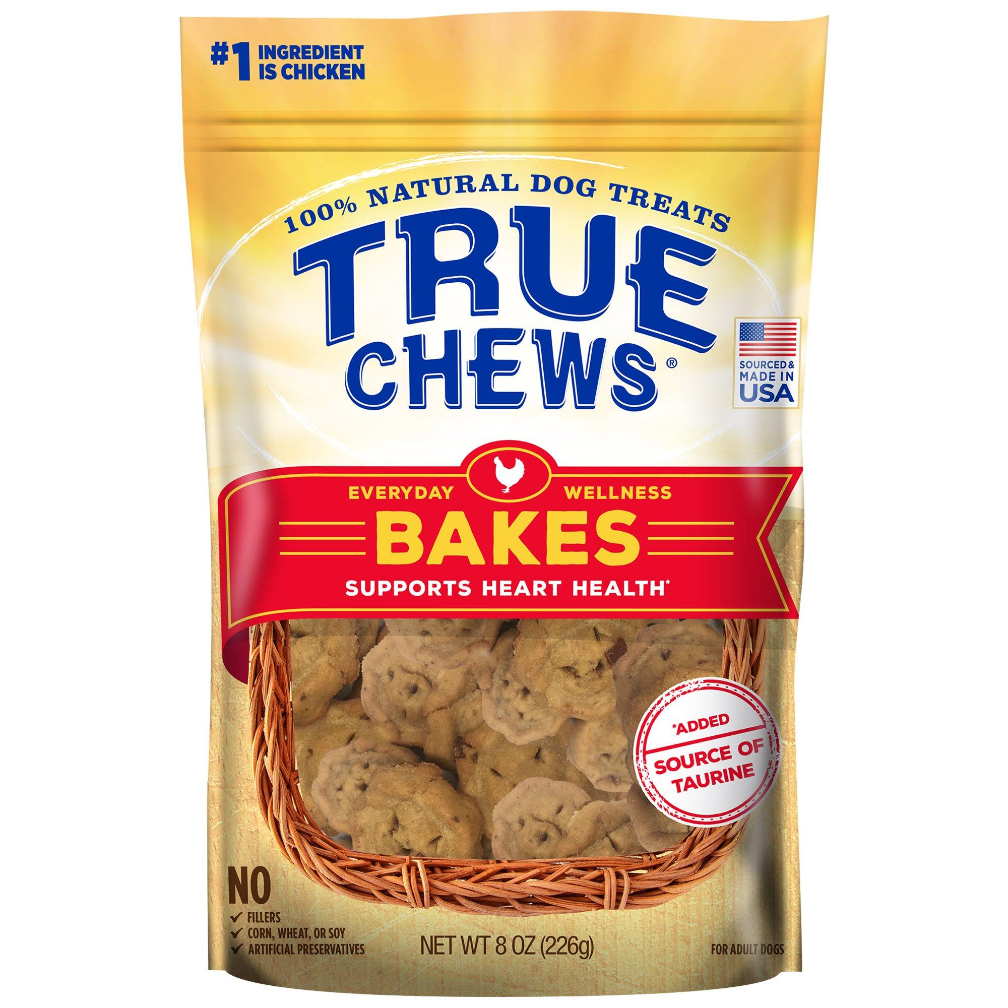 Image of True Chews Everyday Wellness Bakes Supports Heart Health Dog Treats, 8 oz.