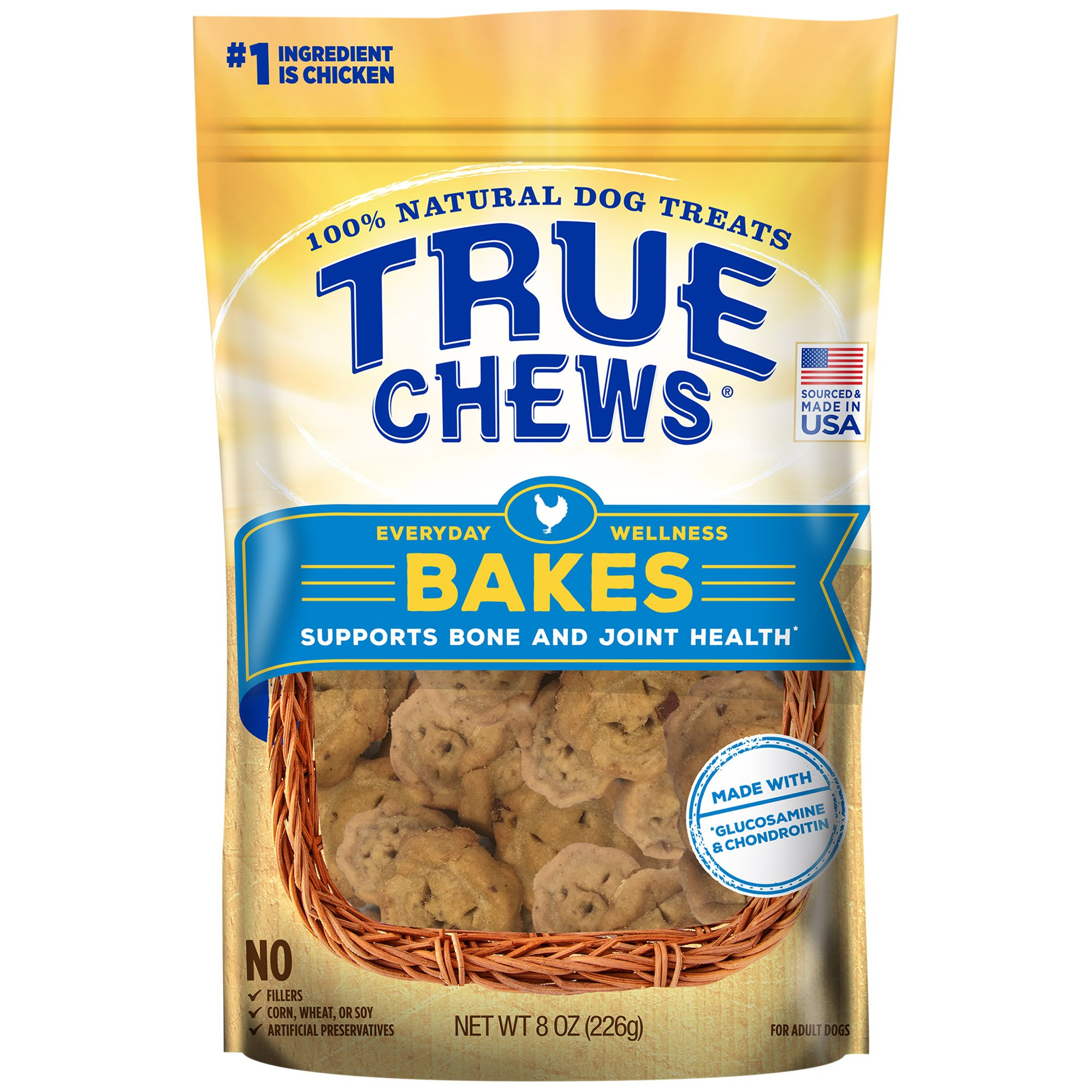 Image of True Chews Everyday Wellness Bakes Supports Bone and Joint Health Dog Treats, 8 oz.