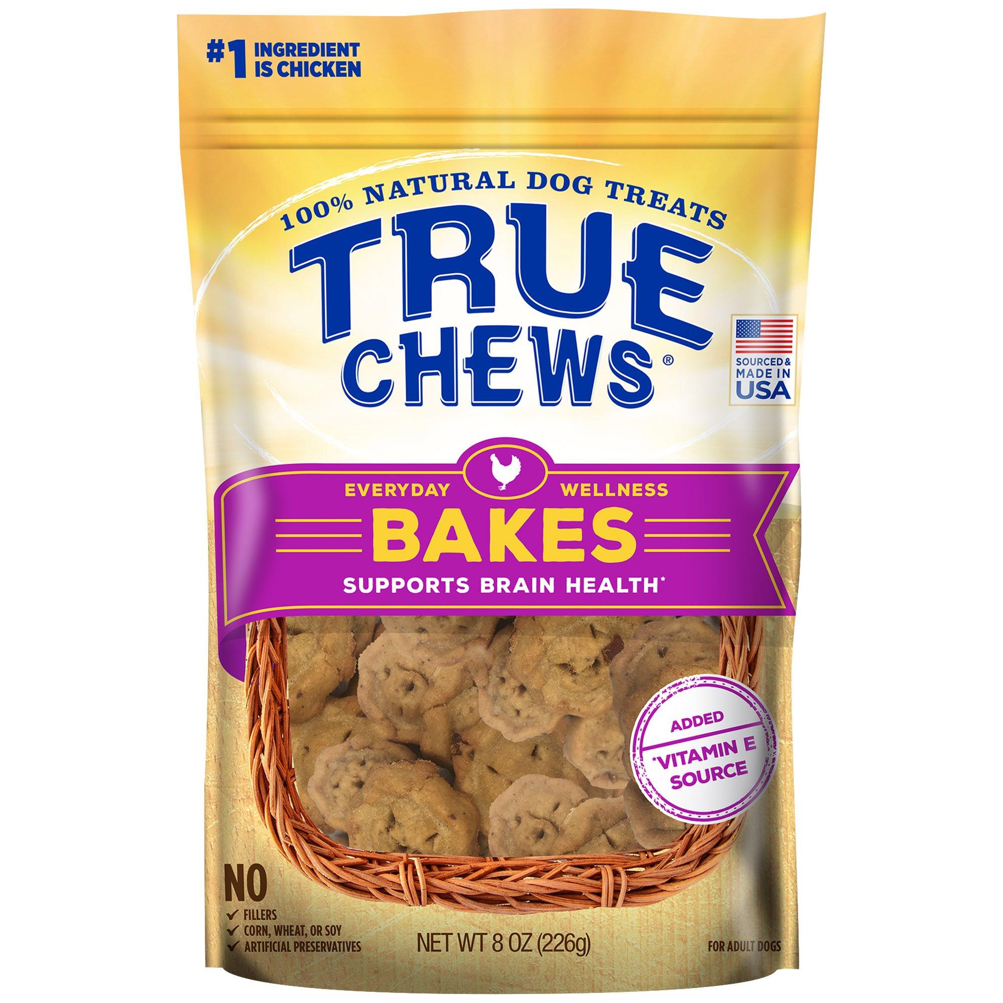 Image of True Chews Everyday Wellness Bakes Supports Brain Health Dog Treats, 8 oz.