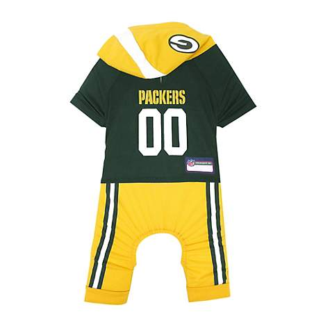 Pets First Green Bay Packers Team Uniform Onesi for Dogs  cbf7488fc