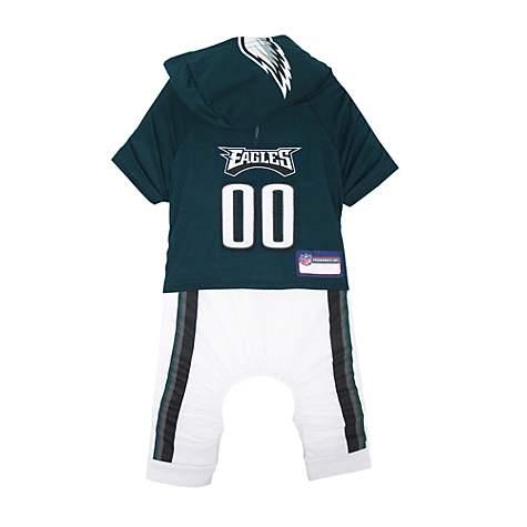 half off cc3cf eeab8 Pets First Philadelphia Eagles Team Uniform Onesi for Dogs, Large