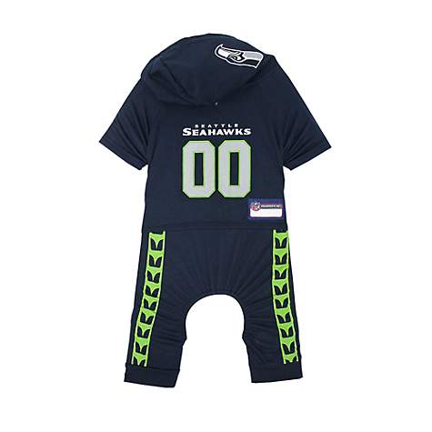 sports shoes 5cc12 9d5ad Pets First Seattle Seahawks Team Uniform Onesi for Dogs, X-Small