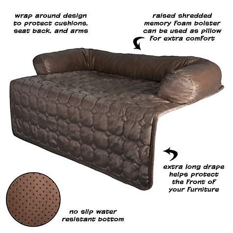 Excellent Petmaker Furniture Protector Pet Cover With Shredded Memory Foam In Brown For Dogs 35 L X 35 W Forskolin Free Trial Chair Design Images Forskolin Free Trialorg
