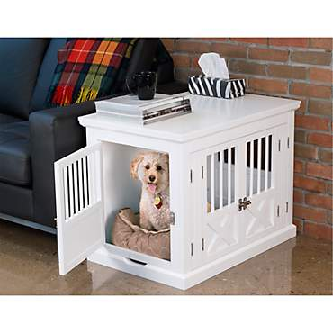 Merry Products Triple Door White Dog Crate