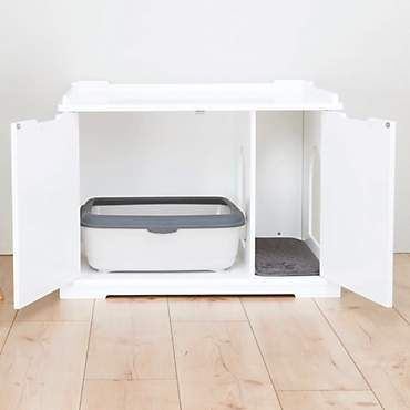 Trixie Wooden Pet House White Litter Box
