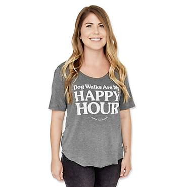 Puppies Make Me Happy Dog Walks Are My Happy Hour Weekend Tee