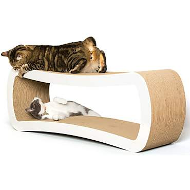 PetFusion Jumbo White Cat Scratcher Lounge