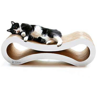 PetFusion Ultimate Cloud White Cat Scratcher Lounge