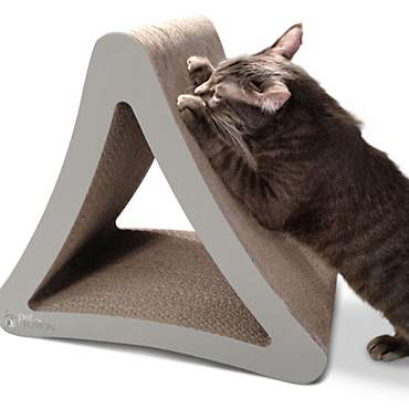 PetFusion 3-Sided Warm Gray Vertical Scratcher