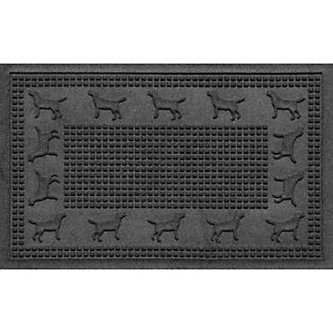 Bungalow Flooring Lab Border Charcoal Dog Mat