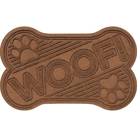 Bungalow Flooring Woof Bone Dark Brown Dog Mat | Petco