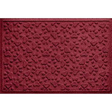 Bungalow Flooring Scattered Paws Red Dog Mat